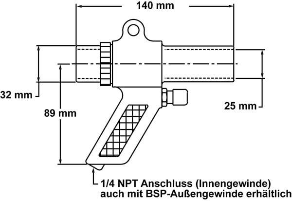 Vac-u-Gun Abmessung