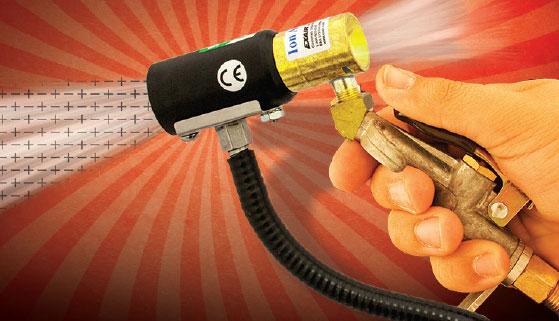 Die ionisierende Druckluftpistole eliminiert mehr statische Ladung und verbraucht dabei weniger Druckluft. Eliminate Static using less compressed air