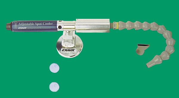 Spot Cooler mit Einsptizenschlauchsatz