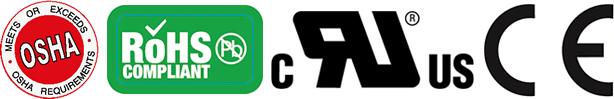 OSHA ROHS CE UR Certification Kennzeichnung