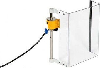 Schutzeinrichtung für Bohrmaschinen TR5; eckiger Schirm 230 x 310 mm - Schutzeinrichtungen für Bohrmaschinen