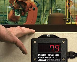 Fernsummieranzeige für das digitale Durchflussmessgerät