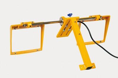 Schutzeinrichtung für große Schleifmaschinen mit 2 Glasschirmen MO/2 190 x 180 mm, Sicherheitsschalter; LED