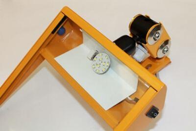 Schutzeinrichtung für Schleifmaschinen MO/2-Glas mit Schirm 193 x 170 mm und LED Lampe
