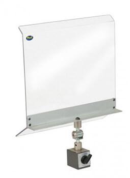Schutzschirm für Maschinen MSI mit magnetischer Befestigung 350 x 300 mm Schutzeinrichtungen Zubehör