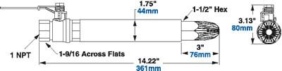 Modell 1215 Sicherheitsblaskanone Abmessungen Super Blast Safety Air Gun Dimensions