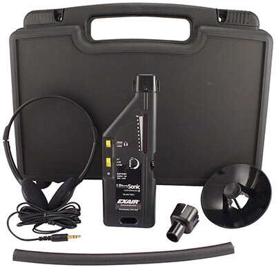 Ultraschall Leckdetektor mit Ultraschall-Leckdetektor mit Hartschalen-Kunststoffgehäuse und Zubehör