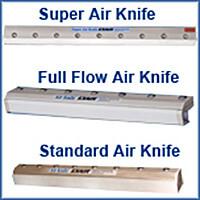 Luftvorhänge Air Knives im Vergleich