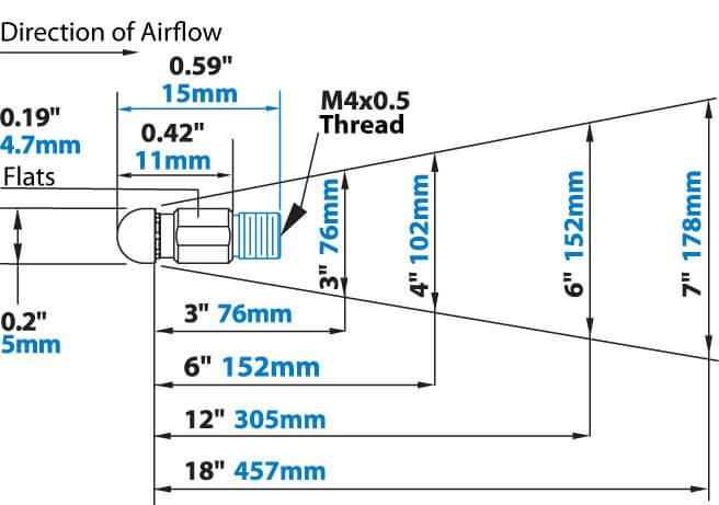 Back Blow Nozzle Dimensions