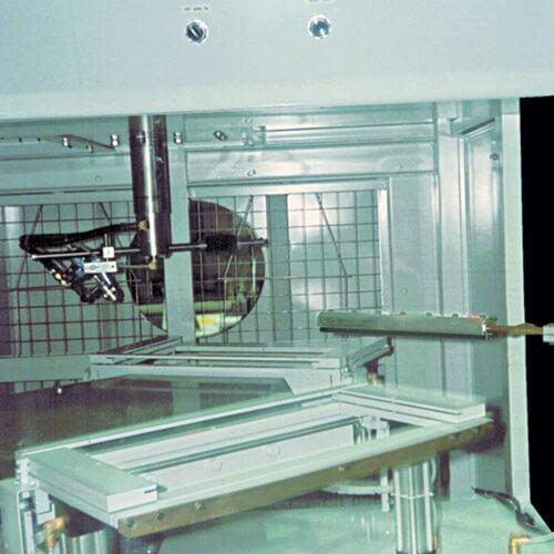 Ion Air Knife entfernt statische Aufladung