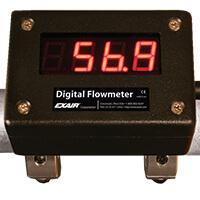 Druckluftoptimierung Digitales Durchflussmessgerät