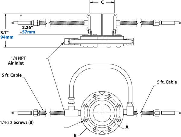 Super Ion Air Wipe Dimensions