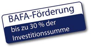 BAFA-Förderung - bis zu 30 % der Investitionssumme
