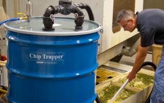 patentierter Spänefänger Chip Trapper in der Anwendung