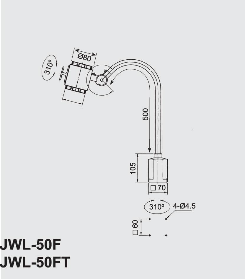 Abmessungen JWL-50