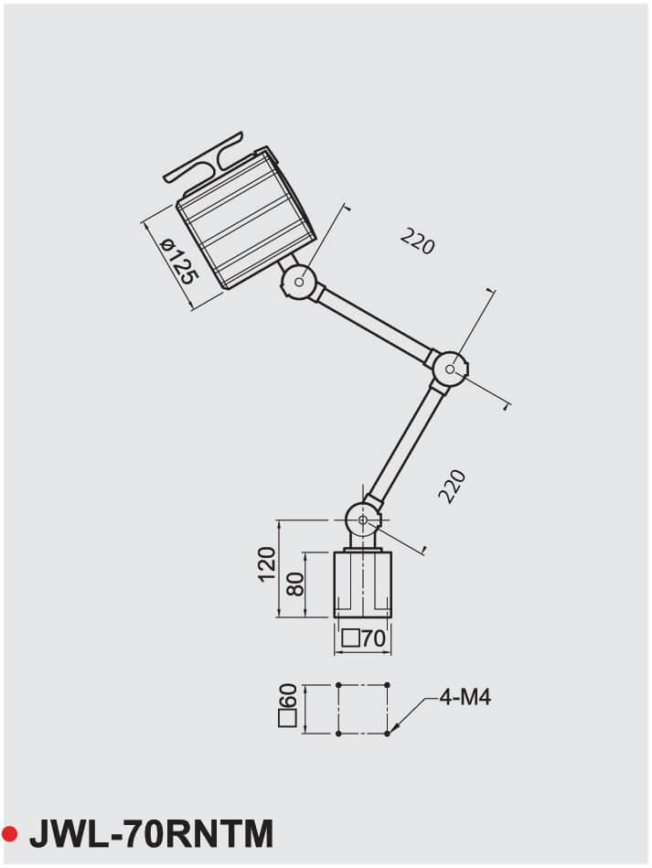 Abmessungen JWL-70RNTM