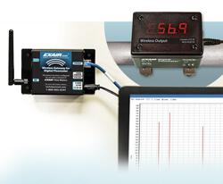 Digitales Durchflussmessgerät - kabellos - drahtlosen Funkübertragung der Verbrauchsdaten direkt vom Durchflussmessgerät über ein Gateway zu Ihrem PC