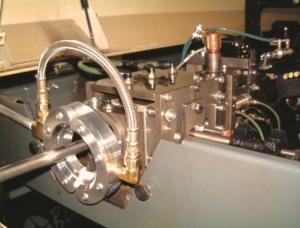 Ringdüse im Einsatz an einer Drehmaschine