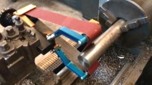 Schleifbandführung-SPIDER zur Nachbearbeitung von Werkstücken Schleifbandführung SPIDER50