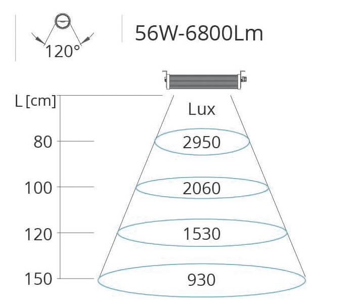 Lichtkegel Wide Flat Maschinenleuchte 56W